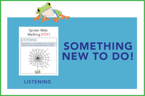 Something New To Do! Indicating a new material is available: Spider Web Walking