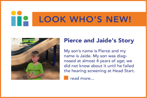 Look Who's New! Indicating a new story available on the site: Pierce and Jade's Story